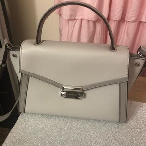 MK Whitney satchel medium silver color used once